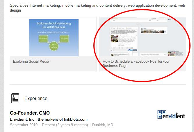 add a youtube video to a linkedin profile