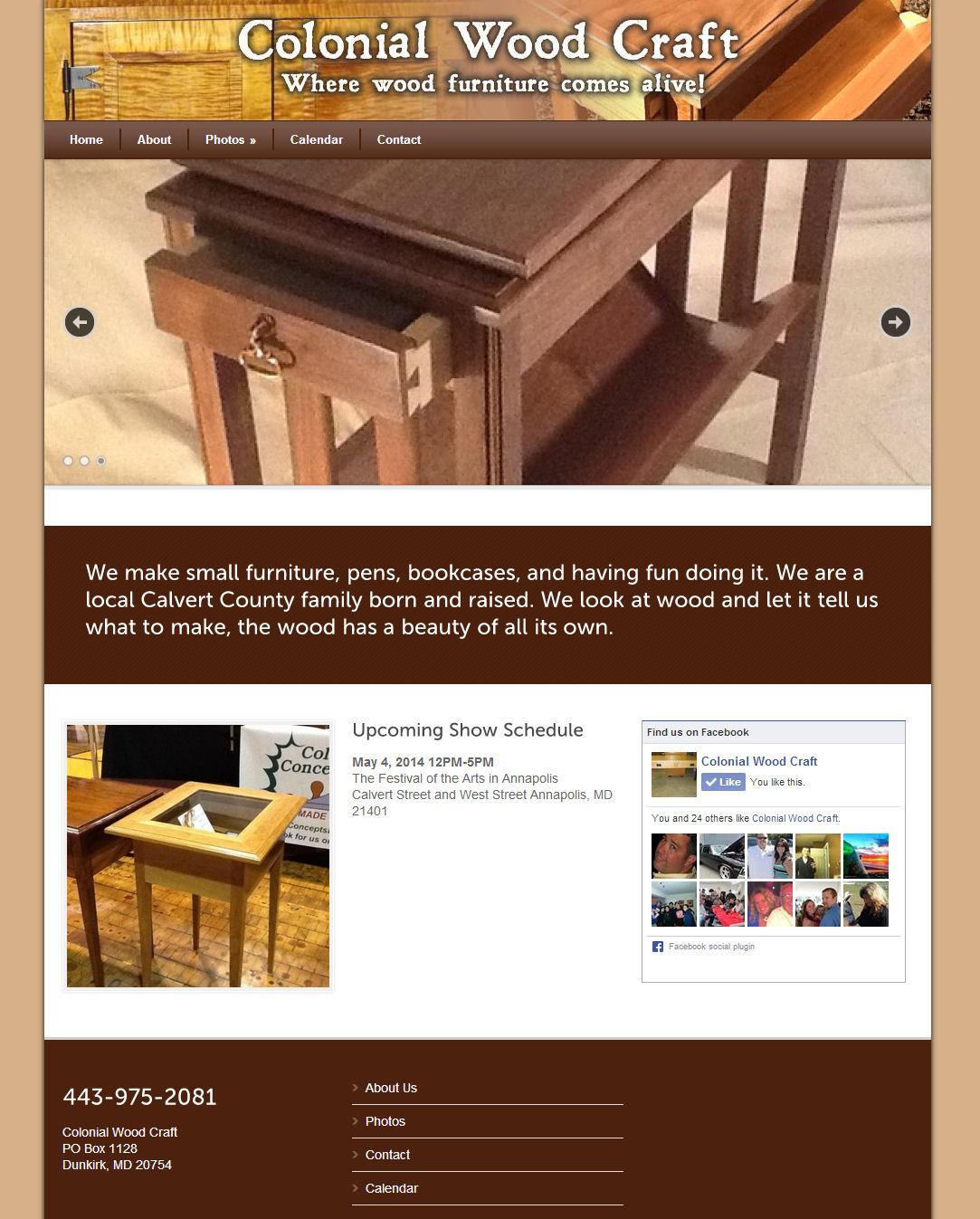 Calvert Design Group Colonial Wood Craft Calvert Design Group